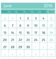 June vector image vector image