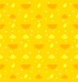 lemon orange fruits seamless pattern background vector image