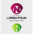 Letter n logo icon design template elements vector image