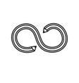 Line pencil with curves and double point vector image