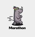 logo marathon simple mascot style vector image