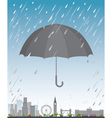 London under umbrella vector image