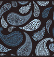 paisley pattern background blue floral ornament vector image