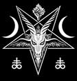 pentagram sign lucifer head a vector image vector image