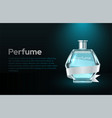 perfume glass bottle marketing template vector image vector image