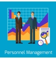 Personnel Management People Handshake vector image