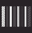 plait and braids pattern brush set ropes vector image