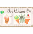 poster one-page menu ice cream placemat vector image vector image