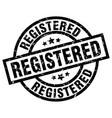 registered round grunge black stamp vector image vector image