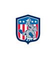 Republican Elephant Boxer Mascot Shield Cartoon vector image vector image