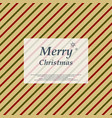 retro christmas colorful stripe line pattern vector image