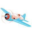 Retro plane vector image vector image