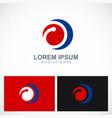round circle colored company logo vector image vector image