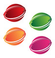 round emblem vector image vector image
