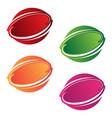 round emblem vector image