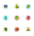 Sanitary day icons set pop-art style vector image vector image