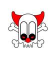 scary clown skull terrible nightmare vector image vector image