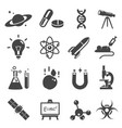 scientific study and research glyph icons vector image vector image
