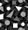 Seamless pattern in black and white retro style vector image vector image