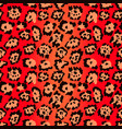 seamless pattern red leopard texture background vector image