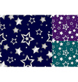 Seamless silver star pattern vector image