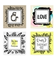 set hand lettering quotes vector image vector image