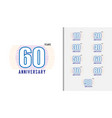 set of anniversary logotype vector image vector image