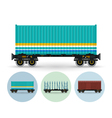 Set of icons of different types of freight cars vector image