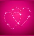 shining hearts vector image vector image