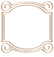 square simple frame for design vector image vector image