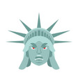 statue of liberty angry emoji us landmark statue vector image