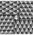 Striped Shells Black White Seamless Pattern Set of vector image