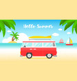 summer vacation beach poster vector image vector image