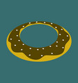 sweet dessert in flat design donut vector image