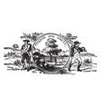 the official us state seal of vermont vintage vector image vector image