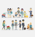 traveling people family friends couple vector image