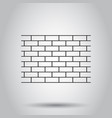 wall brick stone icon on isolated background vector image vector image