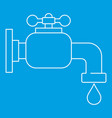 water tap icon outline style vector image vector image