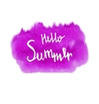 Watercolor Summer hand lettering vector image