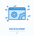 web development thin line icon vector image vector image