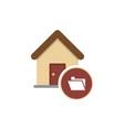 real estate folder modern and luxury logotype vector image