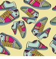 colorful sneakers vector image