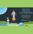 distant worlds colonization background vector image