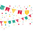 flags with letters happy birthday vector image