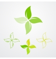 Natural products pharmacy symbol collection vector image