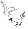peace dove concept vector image