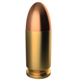 9 mm bullet vector image