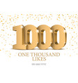 anniversary or event 1000 gold 3d numbers vector image vector image