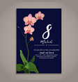 beautiful on march vector image vector image