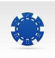 blue casino chip vector image